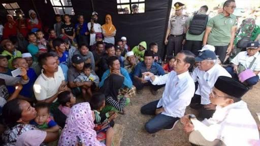Presiden Joko Widodo Teken Inpres Penanganan Gempa Lombok