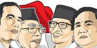 Pasangan Jokowi-Ma'ruf Amin Nomor 1, Prabowo-Sandiaga Uno Nomor 2