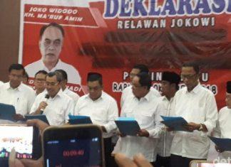 Bupati di Riau dari Gerindra dan PAN Deklarasi Dukung Joko Widodo